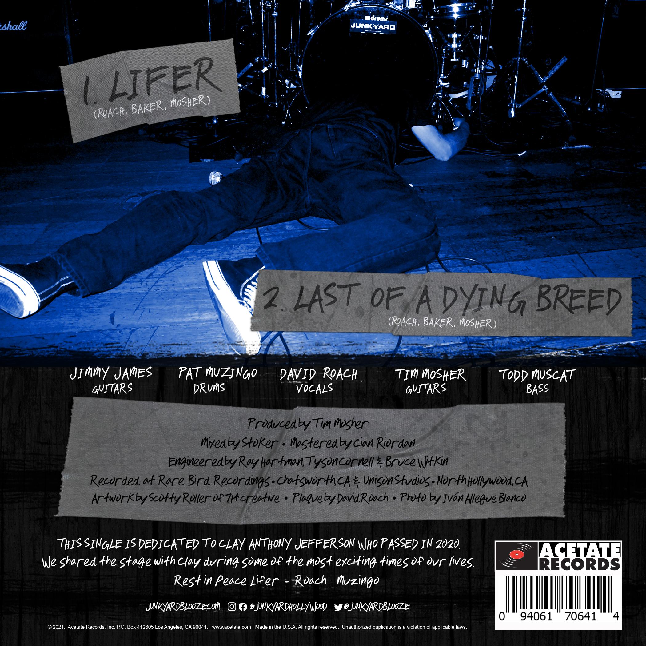 "Junkyard ""Lifer"" back cover"